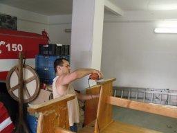 14. 7. 2011  Rekonstrukce hasičské zbrojnice - Příprava stolů a stěhování