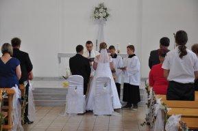 24. 6. 2017  Svatba hasiče a hasičky z Darkovic v kostele v Darkovicích